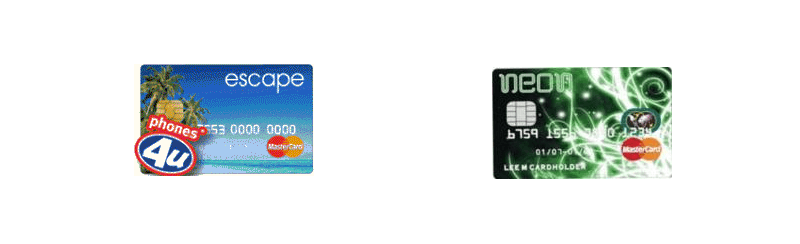Phones4u Prepaid MasterCard cards